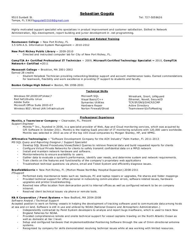 Computer Hardware Repair Specialist Resume Computer