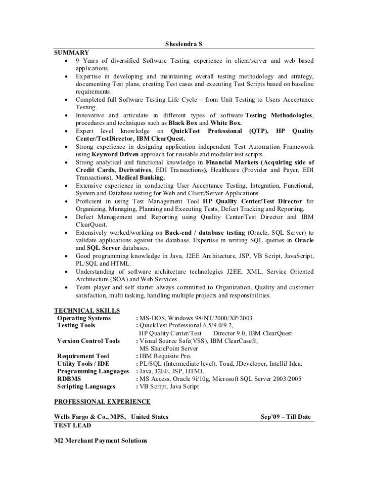 qa lead resumes - Alannoscrapleftbehind