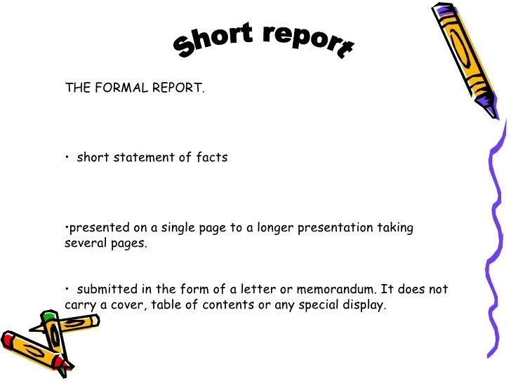 formal report format - Eczasolinf - layout of a formal report