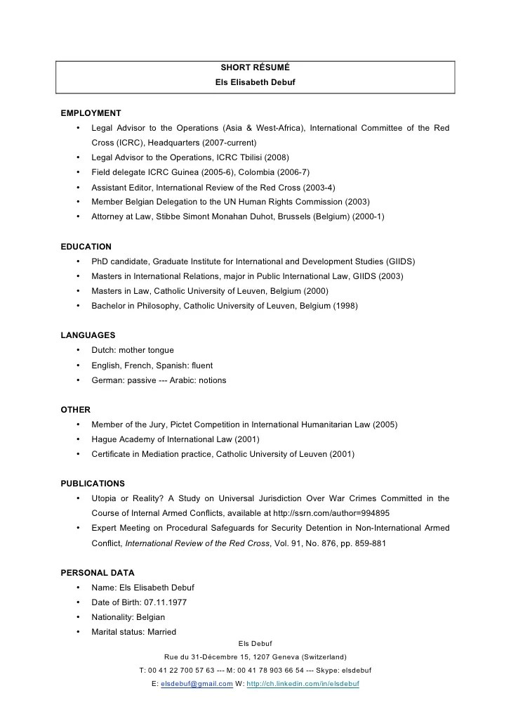 short resume - Towerssconstruction