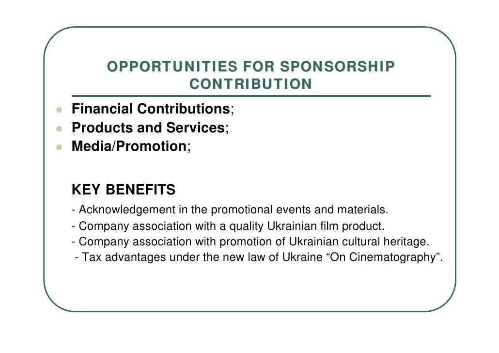sponsorship deck template - Onwebioinnovate