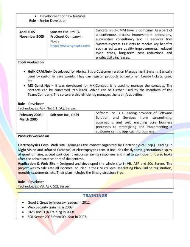 free resume database delhi