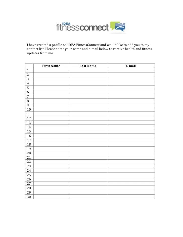 newsletter signup sheet - Erkaljonathandedecker