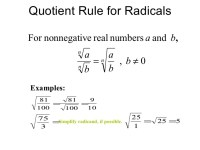 Simplifying Radical Expressions Without Variables ...