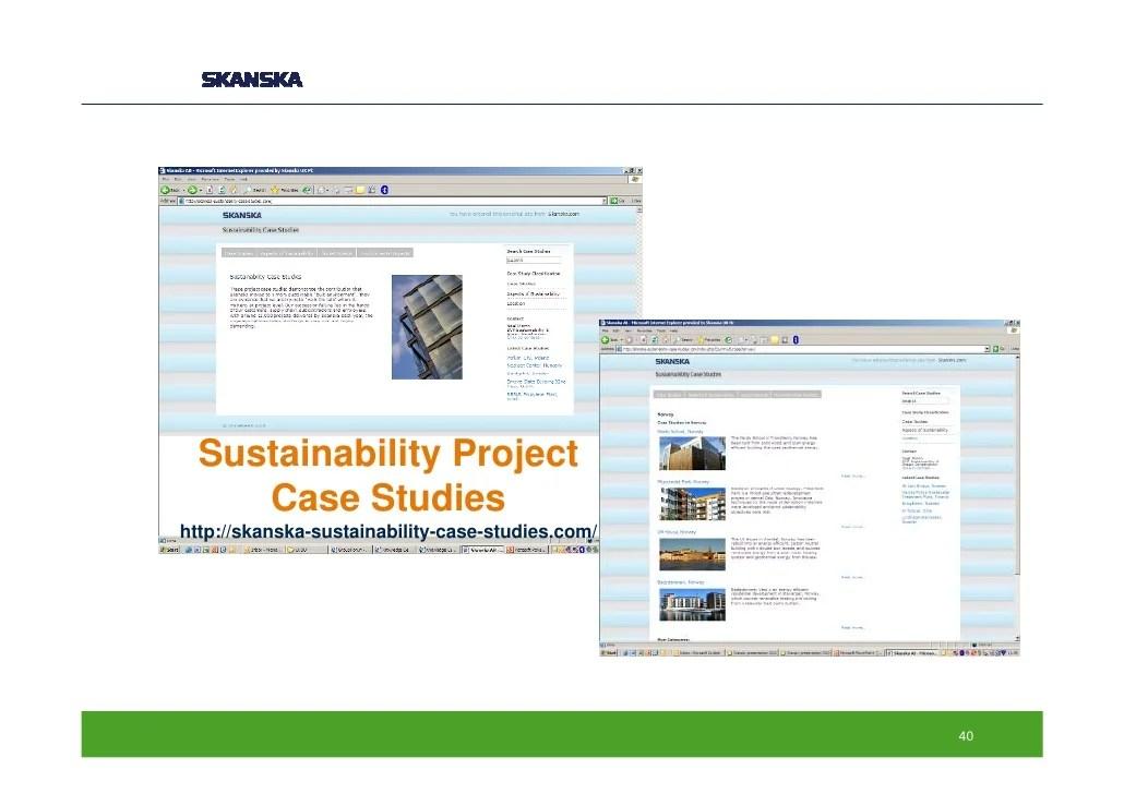 Business Case Studies Organised By Curriculum Topic Skanska Green