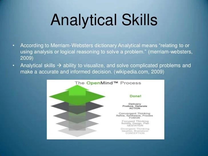 define analytical skills - Selol-ink