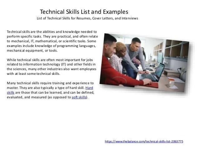 hard skills list resumes - Hacisaecsa