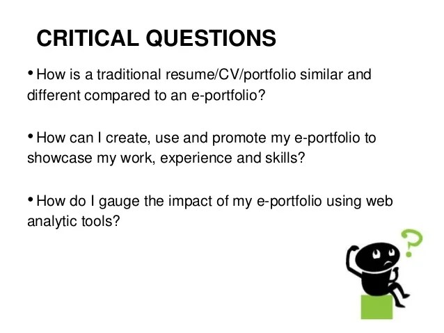 resume compared to portfolio