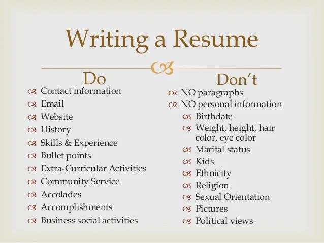 Series How To Write A Resume That Gets Job Interviews Slate Resume Workshop