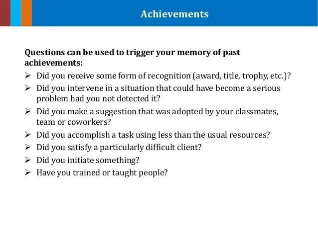 summarize your achievements example - Koranayodhya