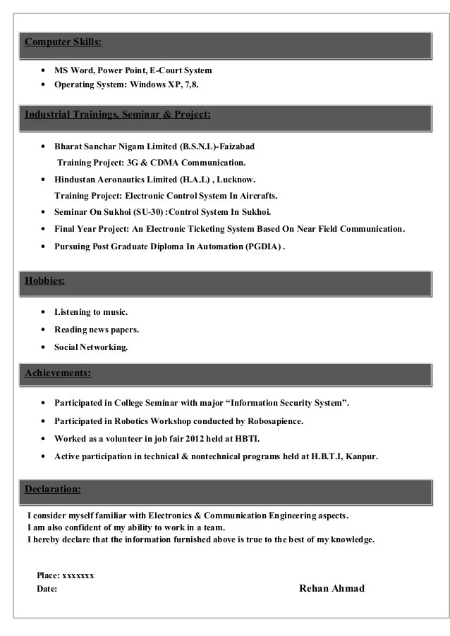 electronic engineer student resume - Jolivibramusic - electronic engineering resume