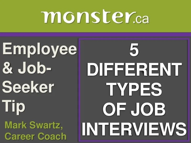 different types of job interviews