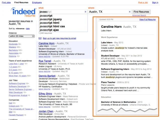 indeed resumes search - Onwebioinnovate - resume search