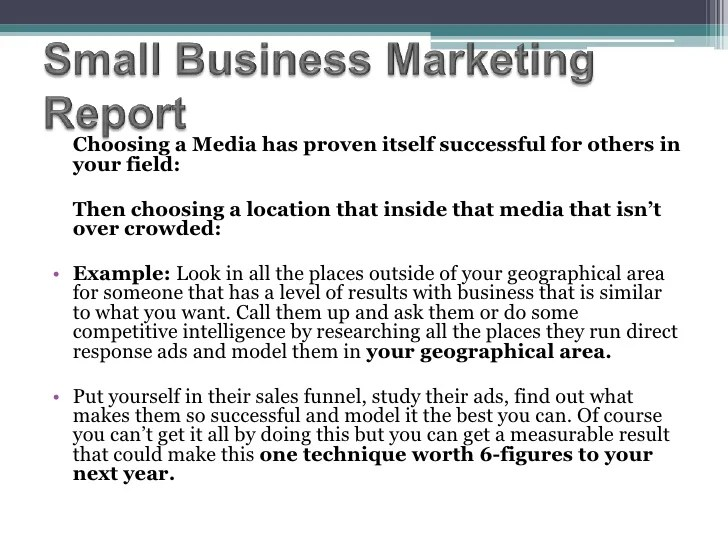 how to write a marketing report sample - Kordurmoorddiner