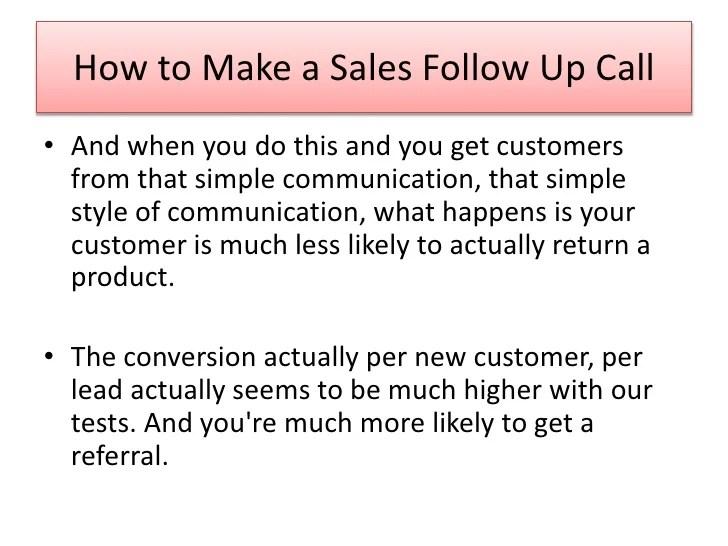 sales call follow up - Josemulinohouse - follow sales