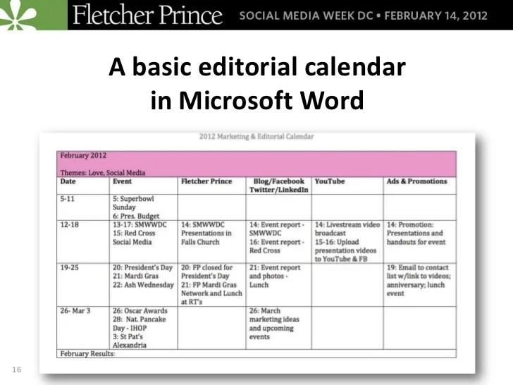 social media content calendar templates - Onwebioinnovate