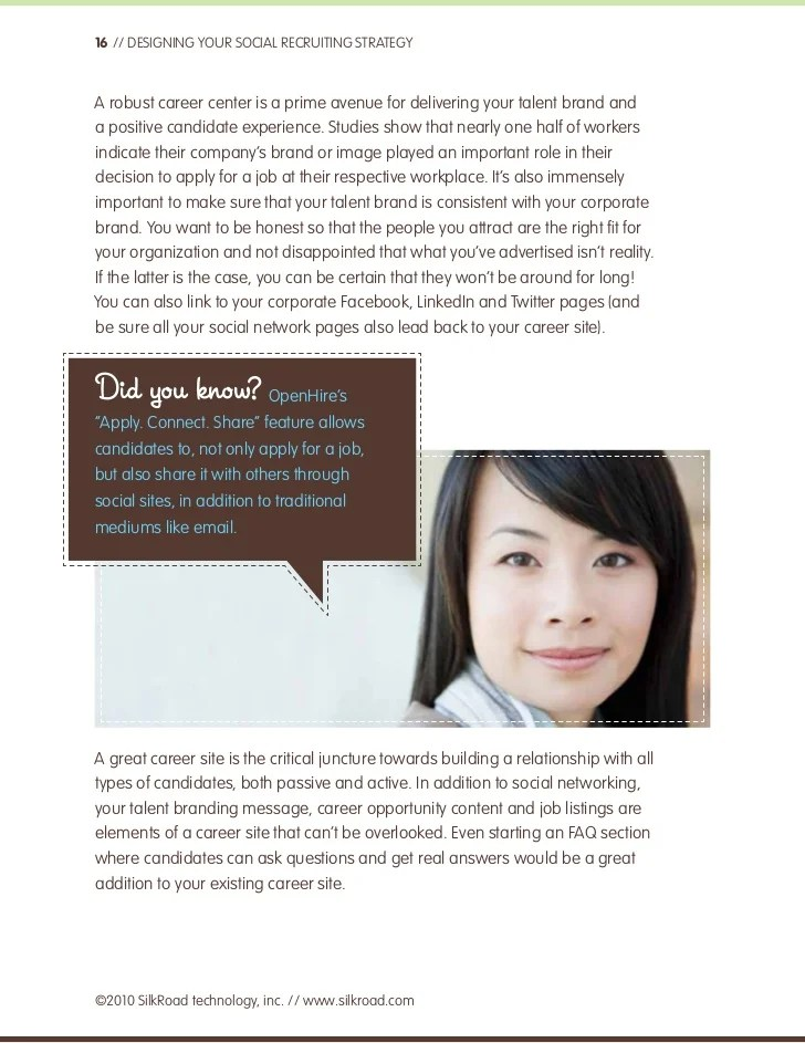 Northwestern Career Advancement Northwestern Student Desigining Your Social Recruiting Strategy A Silkroad