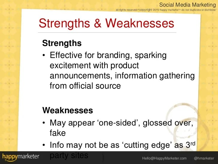 what are strengths and weaknesses - Jolivibramusic
