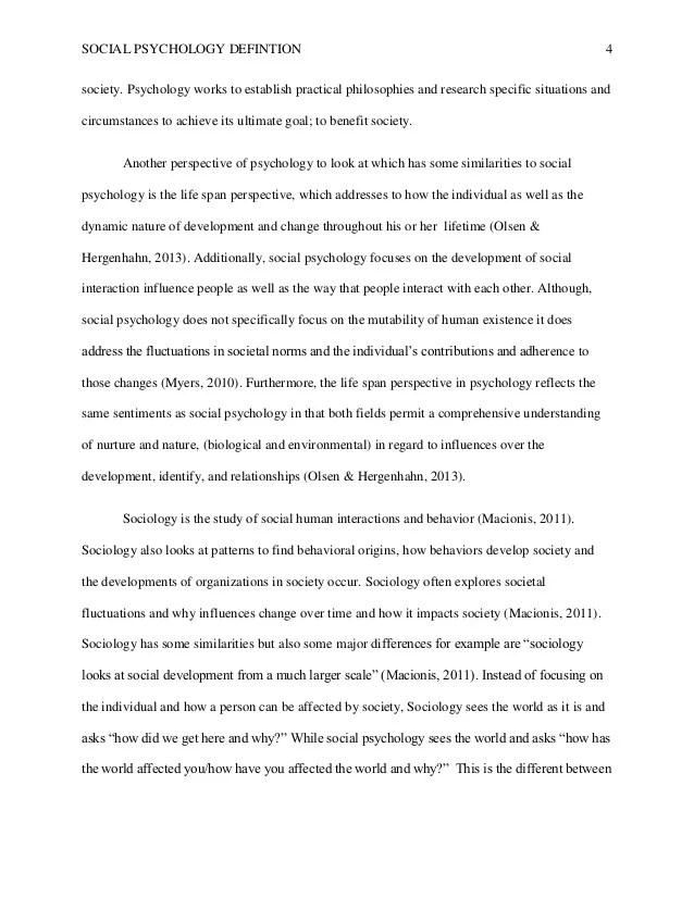 sample psychology paper - Selol-ink