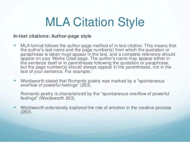example of mla format