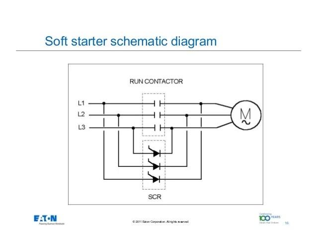 soft start motor starter wiring diagram