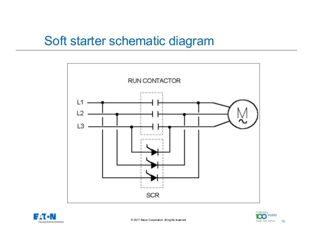 control wiring diagram of soft starter