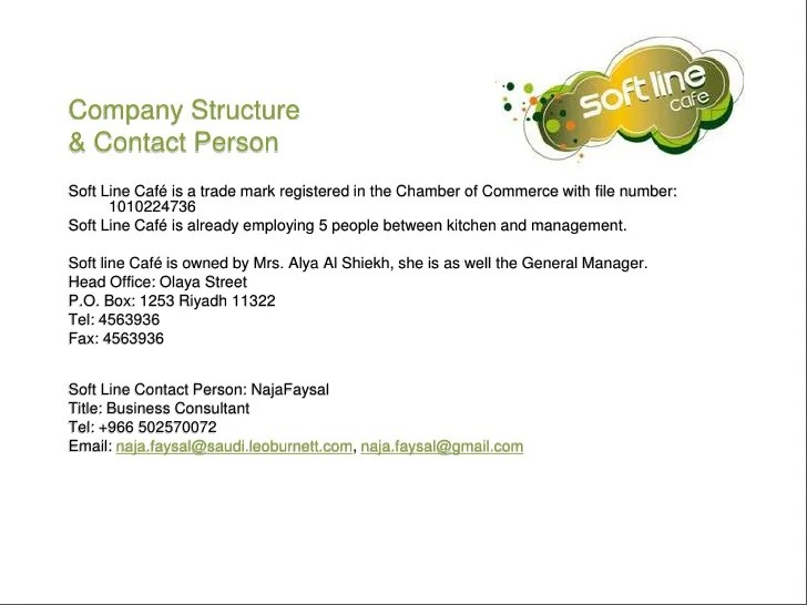 Sample Proposal Letter For Business Partnership Business Proposal For Soft Line Cafe To Operate At Al