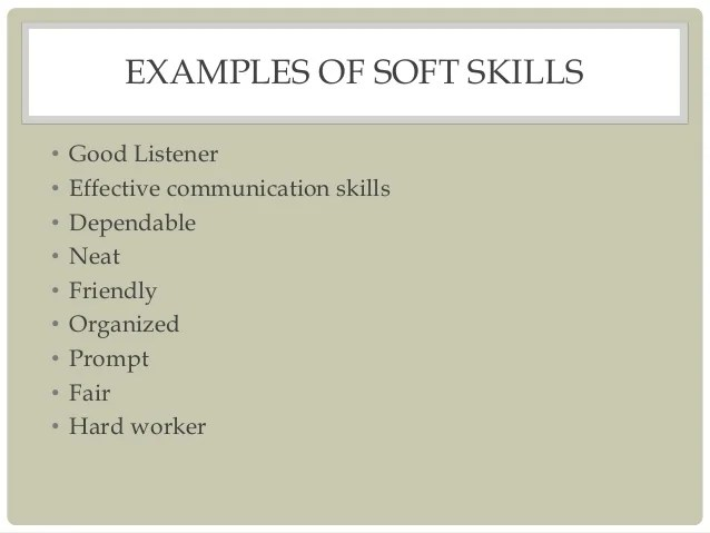 resume soft skills example top 10 soft skills for a resume