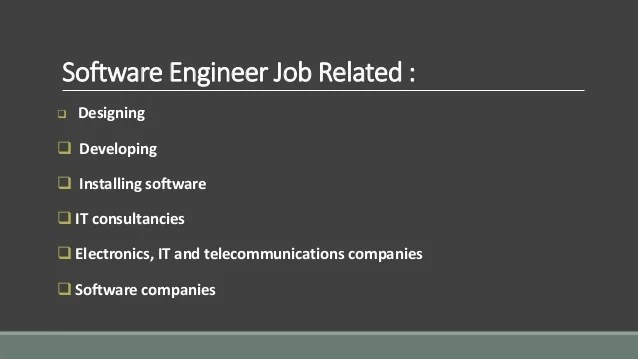 software developer duties - Ozilalmanoof