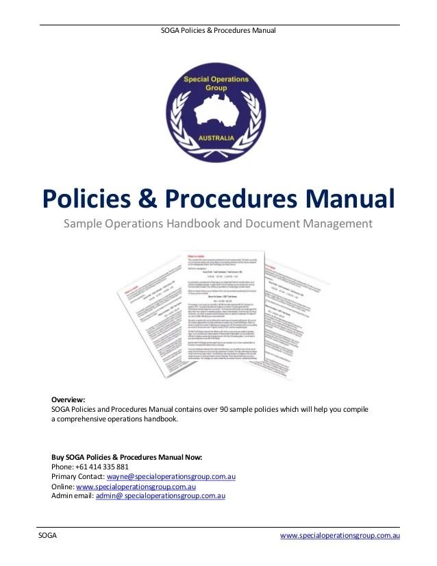 procedures manual templates - Josemulinohouse - operating manual template
