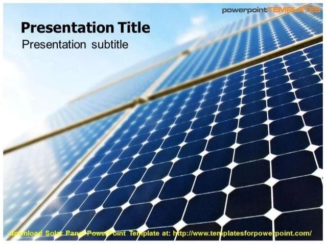 Solar Panel Powerpoint Template Costumepartyrun