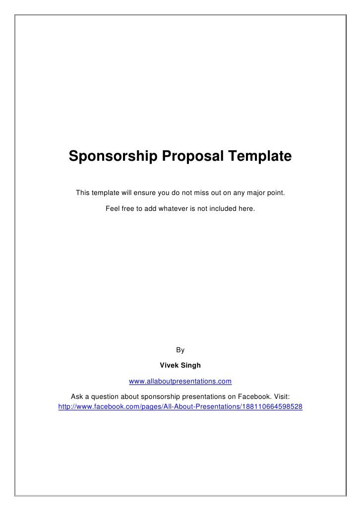 40 Sponsorship Letter Sponsorship Proposal Templates Sponsorship Proposal Template