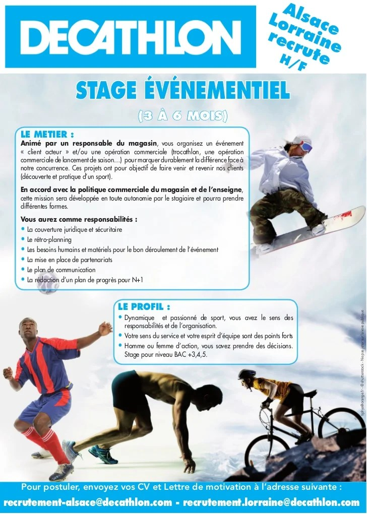 decathlon cv stage