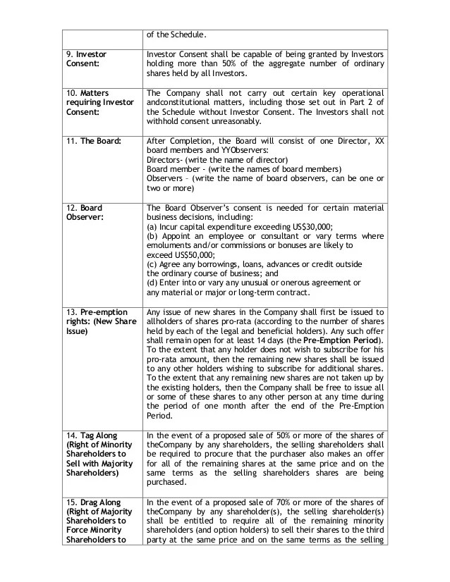 sample investors agreement - Minimfagency - investor contract sample