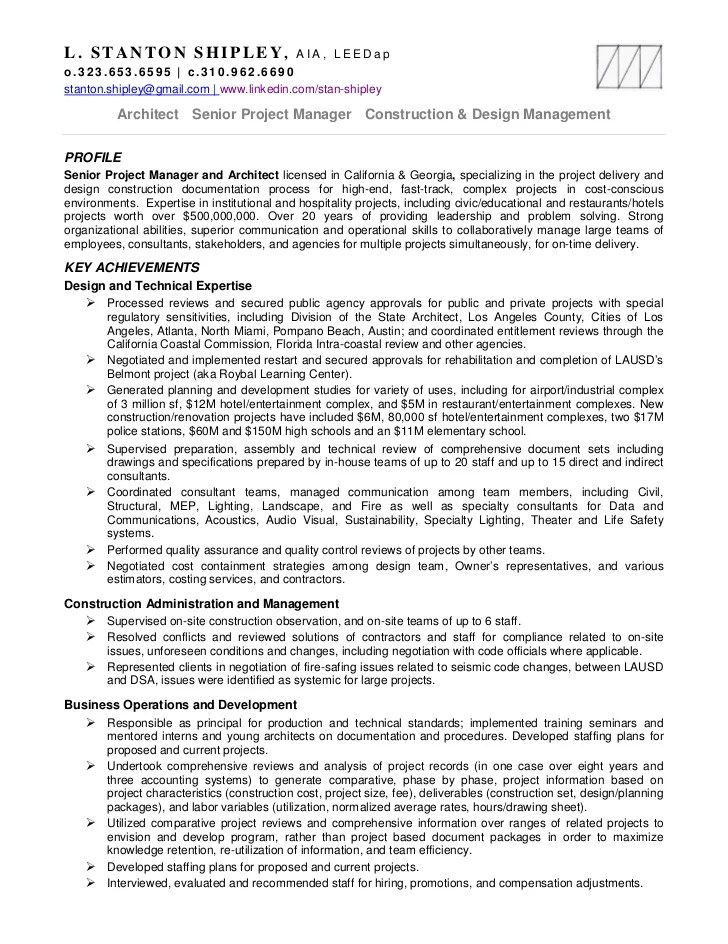chief architect resume - Selol-ink