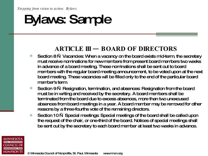 bylaws format example - Heartimpulsar