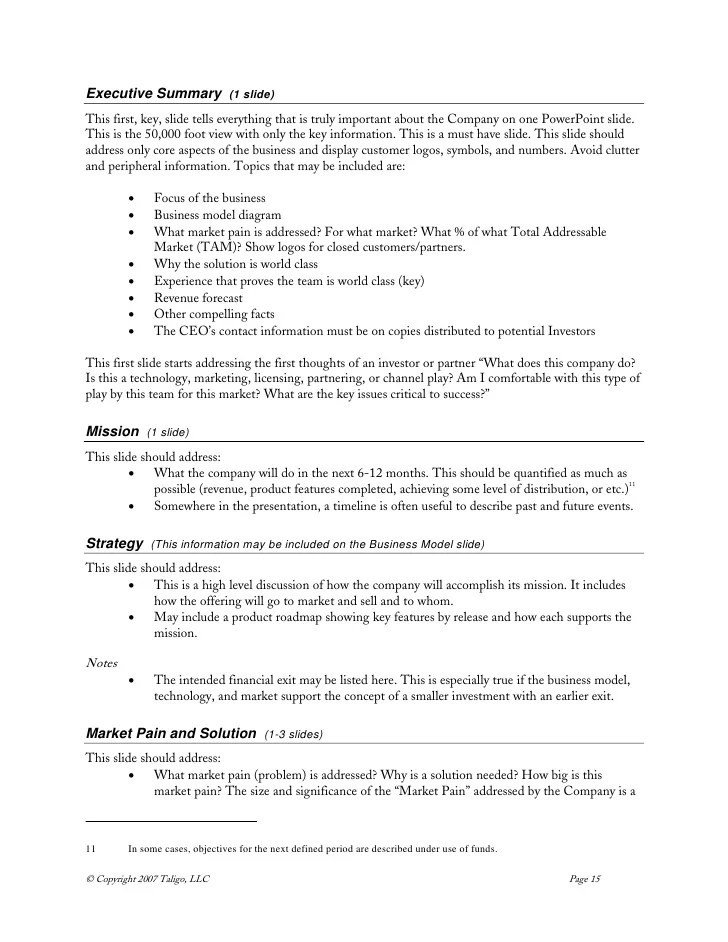 executive summary template - Funfpandroid - one page executive summary template