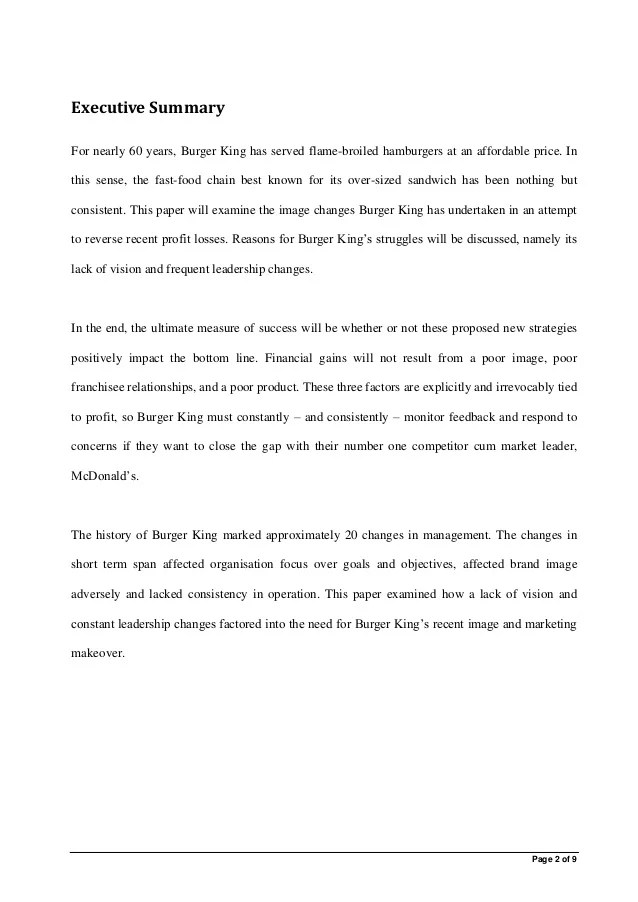 Case Study Interview Examples Questions And Answers Burger King Case Study Review