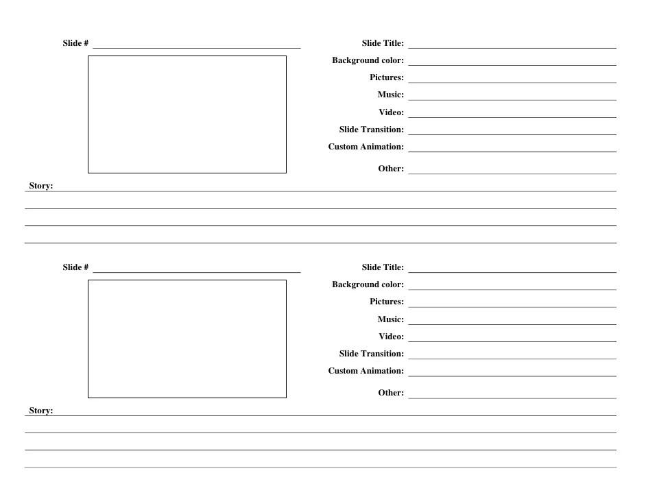Storyboard Template Illustrator - Eliolera - digital storyboard templates