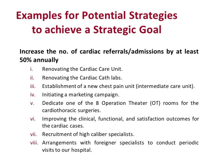 Strategic Planning For Healthcare Services