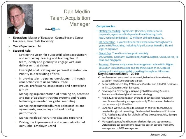 resume headline for talent acquisition