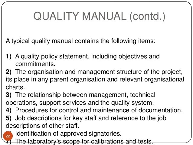 Laboratory Quality Manual Template - Costumepartyrun