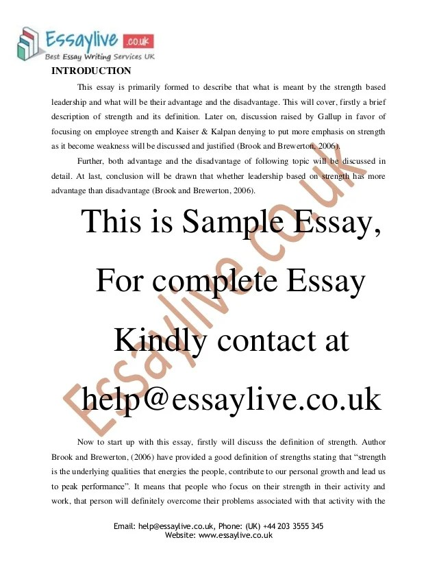 Leadership Introduction Essay  Buy Essay Online Promo Code