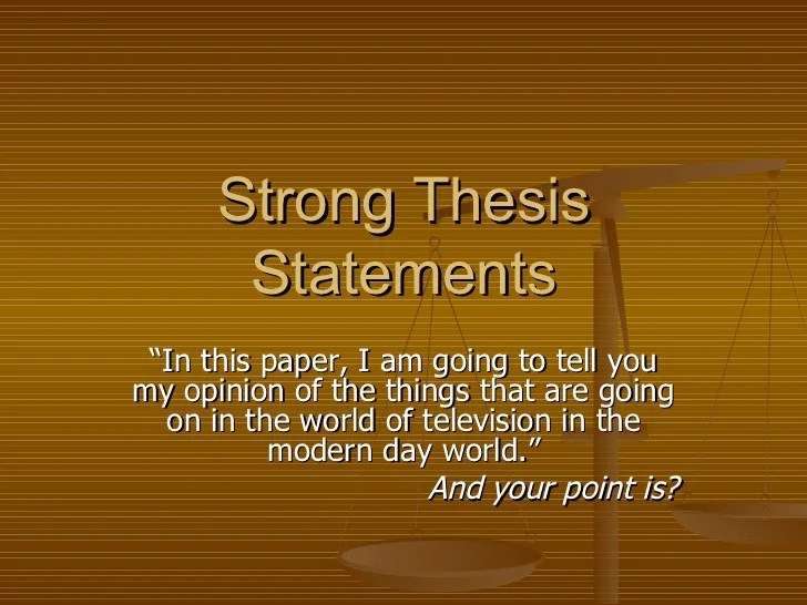 example of thesis statements for essays
