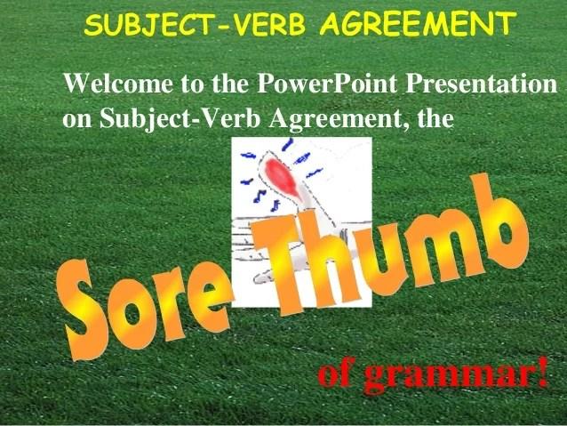 Sub verb agreement