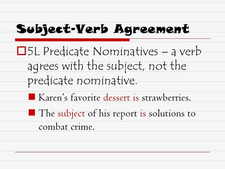 Subject Verb Agreement Collective Nouns Rules – Predicate Nominative Worksheet