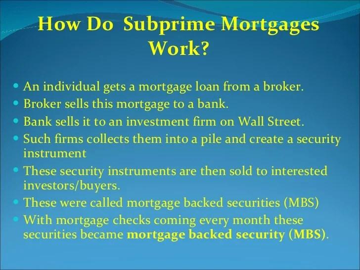 UBS & Subprime Mortgage Crises