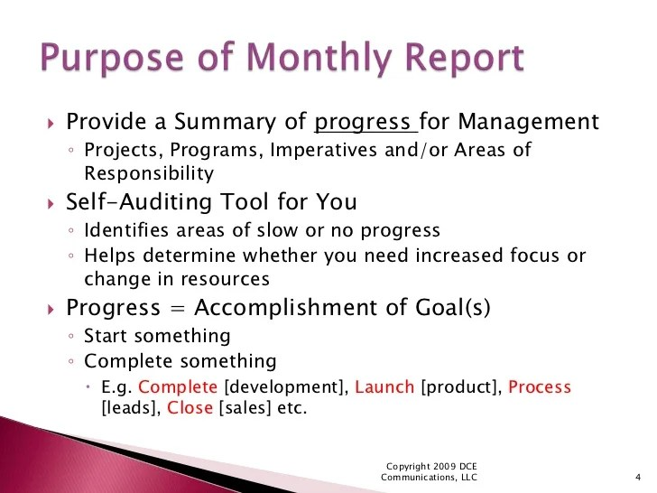 monthly performance report format - Vatozatozdevelopment - format for monthly report