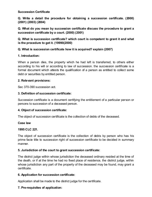 Free Job Application Letter Template Succession Certificate
