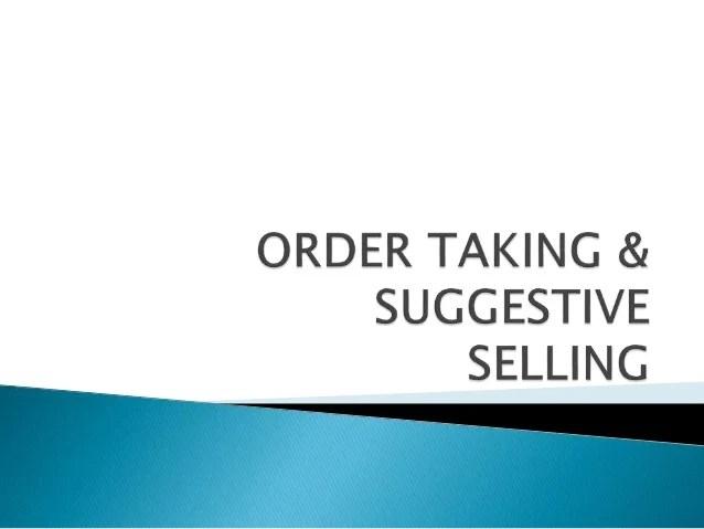 suggestive selling